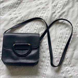 Madewell black leather purse